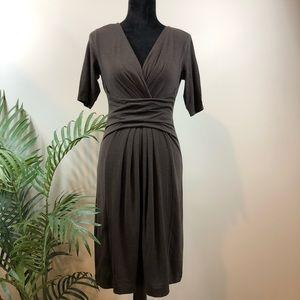 LOFT Ann Taylor Brown Jersey Knit Dress XS NWT